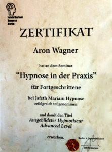 Hypnose Advanced Zertifikat Aron Wagner1