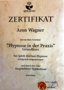 Grundkurs Hypnose Zertifikat Aron Wagner