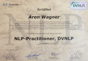 NLP Zertifikat Aron Wagner